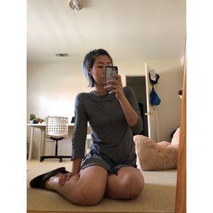ZARA double-slit shirt dress